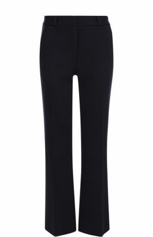 Шерстяные расклешенные брюки с карманами Victoria Beckham. Цвет: темно-синий
