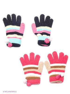 Перчатки, 2 пары FOMAS. Цвет: черный, коралловый