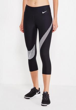 Тайтсы Nike. Цвет: черный