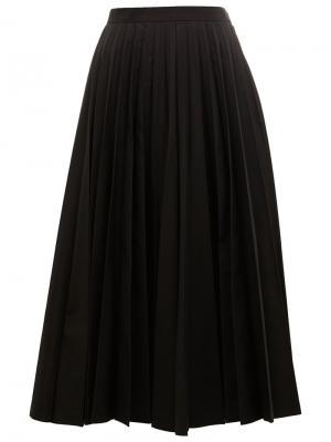 Плиссированная юбка Junya Watanabe Comme Des Garçons. Цвет: чёрный