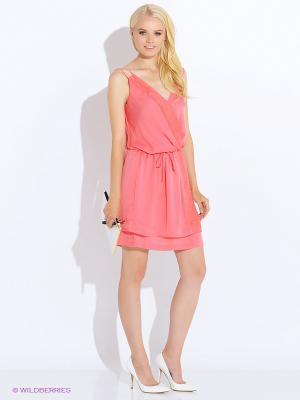 Платье Anna Scott. Цвет: коралловый