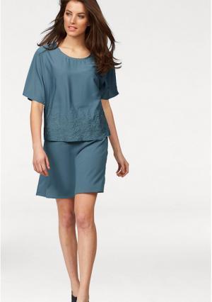 Платье 2 в 1 Aniston. Цвет: джинсовый