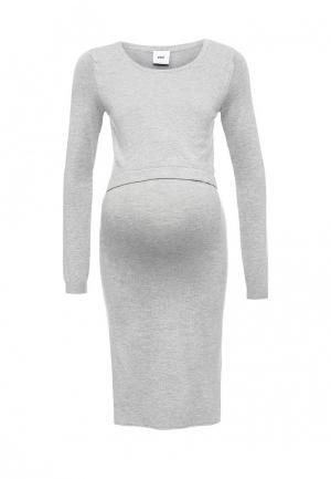 Платье Mamalicious. Цвет: серый