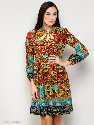 Платье FRENCH HINT. Цвет: бордовый