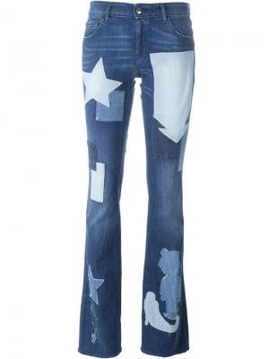 Лоскутные джинсы The Seafarer. Цвет: синий