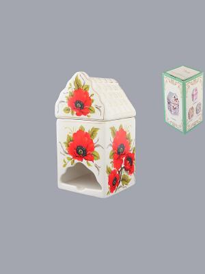 Банка для чайных пакетиков Маки Elan Gallery. Цвет: белый, красный