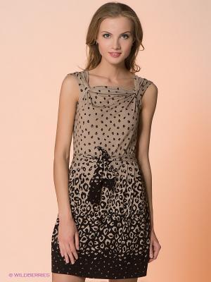 Платье Hammond. Цвет: бежевый, черный