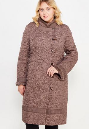 Куртка утепленная Brillare. Цвет: коричневый