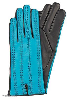 Перчатки женские с эффектом Touch Screen Marco Bonne`. Цвет: черный, лазурный