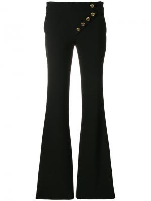 Асимметричные расклешенные брюки Chloé. Цвет: чёрный