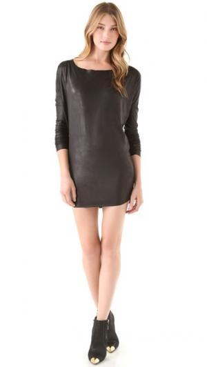 Платье Faux Leather Tbags Los Angeles. Цвет: голубой