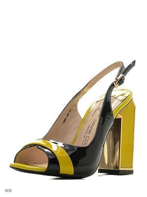 Босоножки MARIE COLLET. Цвет: черный, желтый