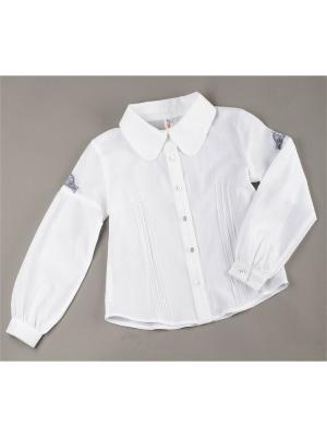 Блузка ВЕНЕЙЯ. Цвет: белый