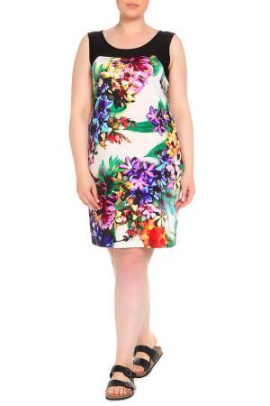 Платье домашнее LAVELLE. Цвет: цветной