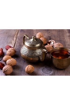 Холст Восточный чайник Ecoramka. Цвет: серый, коричневый