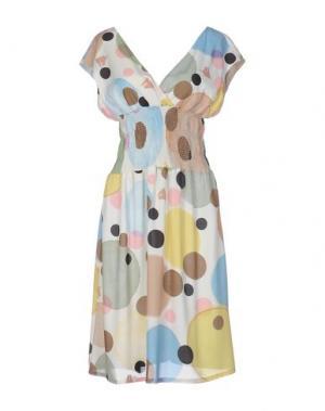 Платье до колена DV Roma. Цвет: бежевый