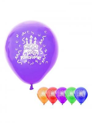 Набор воздушных шаров А М Дизайн. Цвет: темно-фиолетовый, красный, оранжевый