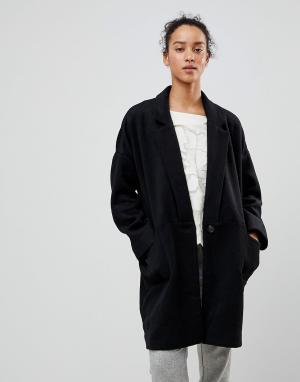See U Soon Oversize-пальто. Цвет: черный