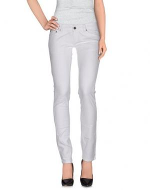 Повседневные брюки HYDROGEN. Цвет: белый