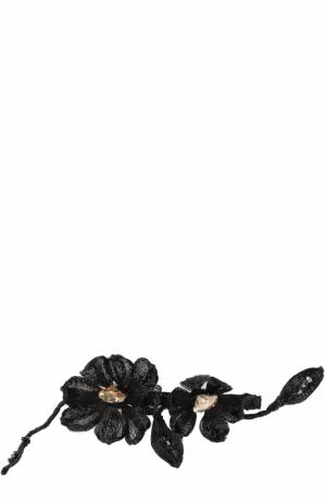 Заколка с цветочным декором Colette Malouf. Цвет: черный