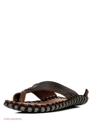 Шлепанцы Nexpero. Цвет: темно-коричневый