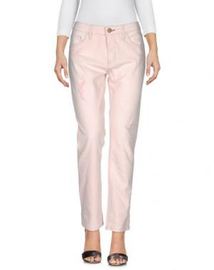 Джинсовые брюки SHINE. Цвет: розовый