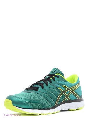 Кроссовки GEL-ZARACA 4 ASICS. Цвет: зеленый, желтый, черный