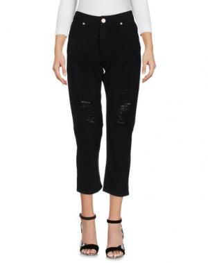 Джинсовые брюки UFFICIO 87. Цвет: черный