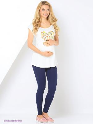 Блузка для беременных Hunny Mammy. Цвет: молочный
