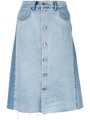 Юбка Park Mih Jeans. Цвет: синий