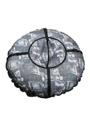 Санки надувные Ватрушка Метиз. Цвет: серый