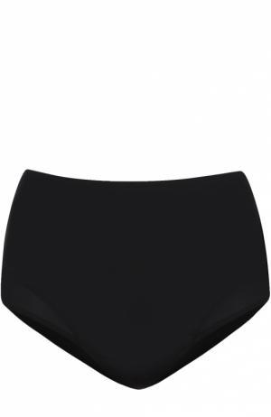 Плавки-бикини с завышенной талией и прозрачными вставками Beth Richards. Цвет: черный