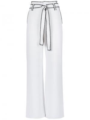 Belted waist wide leg trousers Tufi Duek. Цвет: none
