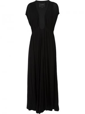 Вечернее платье с глубоким вырезом Jay Ahr. Цвет: чёрный