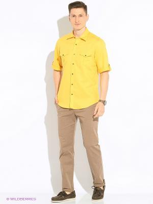 Рубашка KARFLORENS. Цвет: желтый