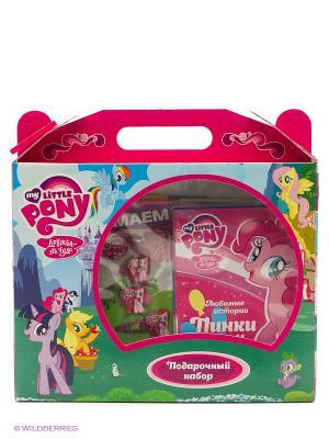 Подарочный набор Мой маленький Пони (картонный бокс с ручкой) НД плэй. Цвет: розовый, зеленый