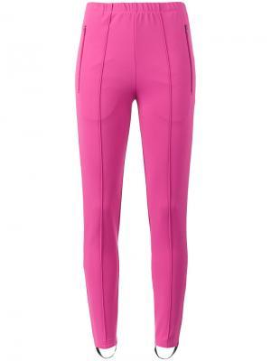 Узкие джоггеры Fuseau Balenciaga. Цвет: розовый и фиолетовый
