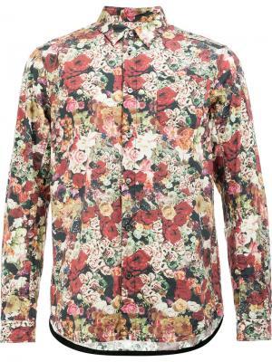 Рубашка с принтом роз Undercover. Цвет: многоцветный