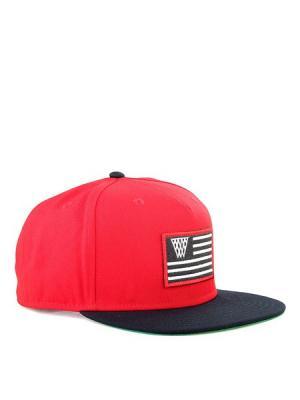 Бейсболка K1X. Цвет: черный, красный