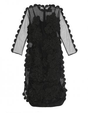 Двухслойное платье Simone Rocha. Цвет: черный