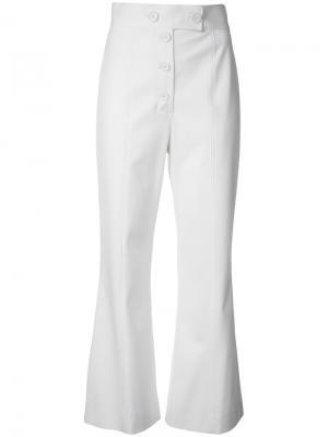 Укороченные расклкшенные брюки Proenza Schouler. Цвет: белый