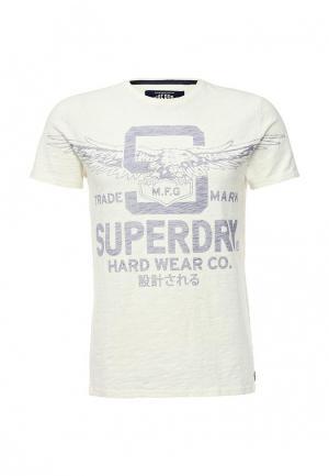 Футболка Superdry. Цвет: белый