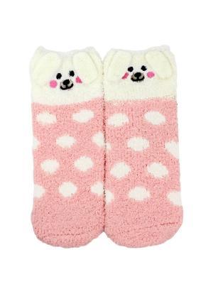 Носки HOBBY LINE. Цвет: молочный, бледно-розовый