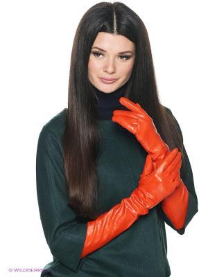 Перчатки женские Piero. Цвет: оранжевый