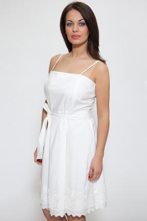 Платье Aftershock. Цвет: белый