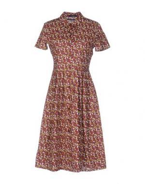Платье до колена LAURA URBINATI. Цвет: розовато-лиловый