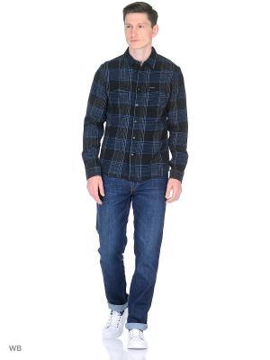 Рубашка 2PKT Wrangler. Цвет: синий, черный