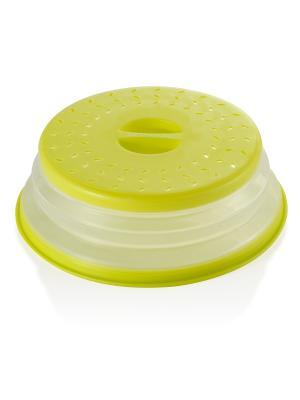 Компактная крышка для сковороды/кастрюли с защитой от брызг Brandani. Цвет: зеленый