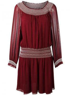 Smock detail dress Tory Burch. Цвет: красный