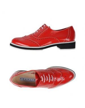 Обувь на шнурках F.LLI BRUGLIA. Цвет: красный
